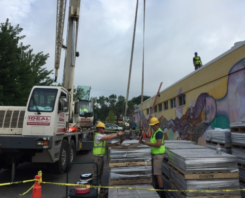 July 16, 2016 Willy Street Co-op East rooftop installation