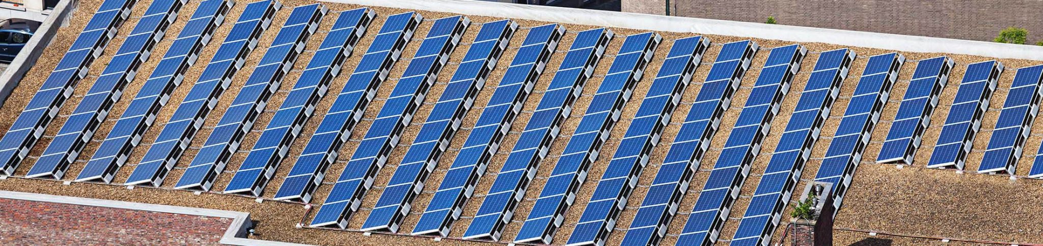 Solar panels on community building