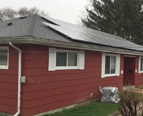 Solar panels on another house