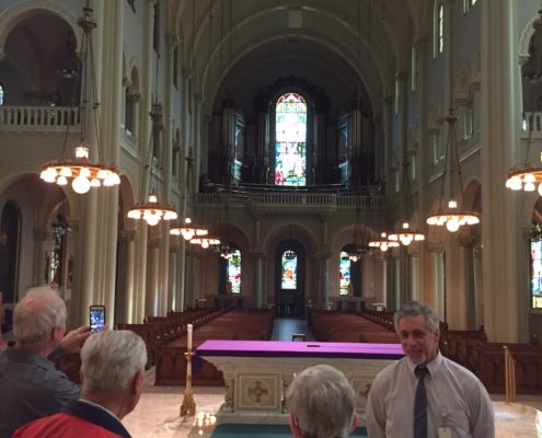 Facilities Director Michael O'Loughlin gives LSC a tour of St. Joseph's Convent in Milwaukee