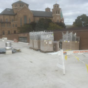 St. Joseph's Convent - Racking and conduit ready for installation