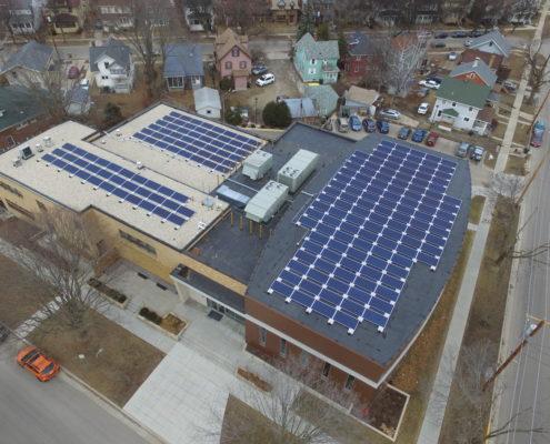 Solar array at Beth Israel