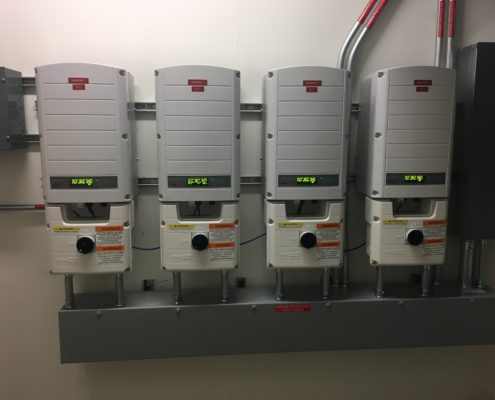 Inverters at Beth Israel installation