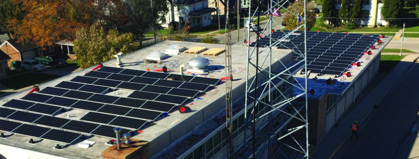 Beaver Dam City Hall rooftop solar array