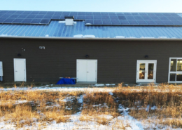 Solar panels on Art Ventures Retreat Center at Bethel Horizons, Dodgeville
