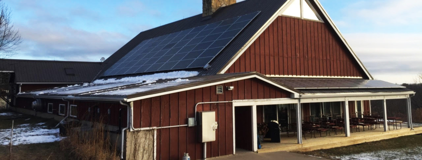 Solar panels on Bethel Horizons Prairie Center, Dodgeville