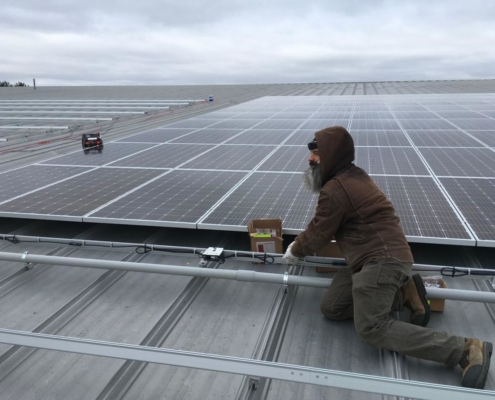 Todd Lund Wires Up Oregon Ice Arena Rooftop